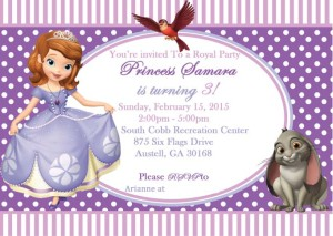 Sophia the first invitation