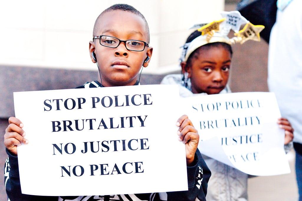 black children protesting