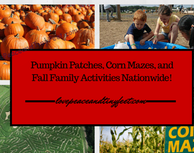 Pumpkin Patches, Corn Mazes, Farms and more Fall Family Activities
