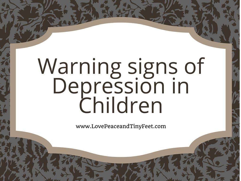 Warning signs of Depression in Children