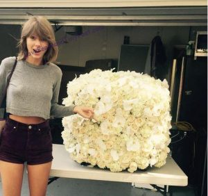 most popular instagram photo - Taylor Swift and pretty flowers