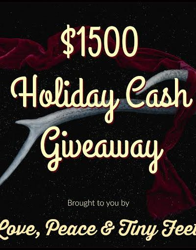 A Happy Holiday Giveaway – Enter to win $1500 CASH!