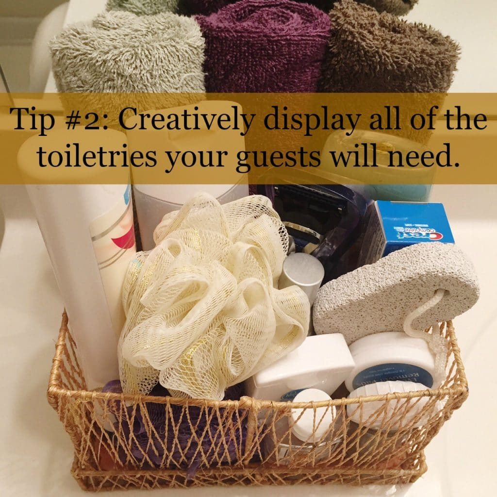 store toiletries for out of town guests
