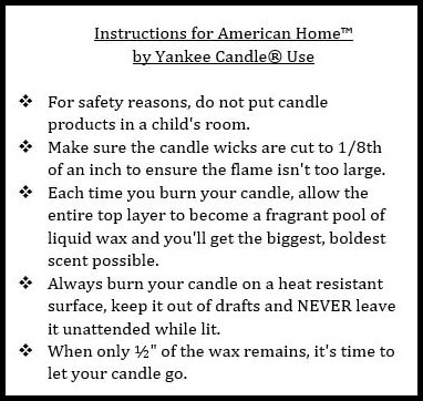 yankee candle instructions