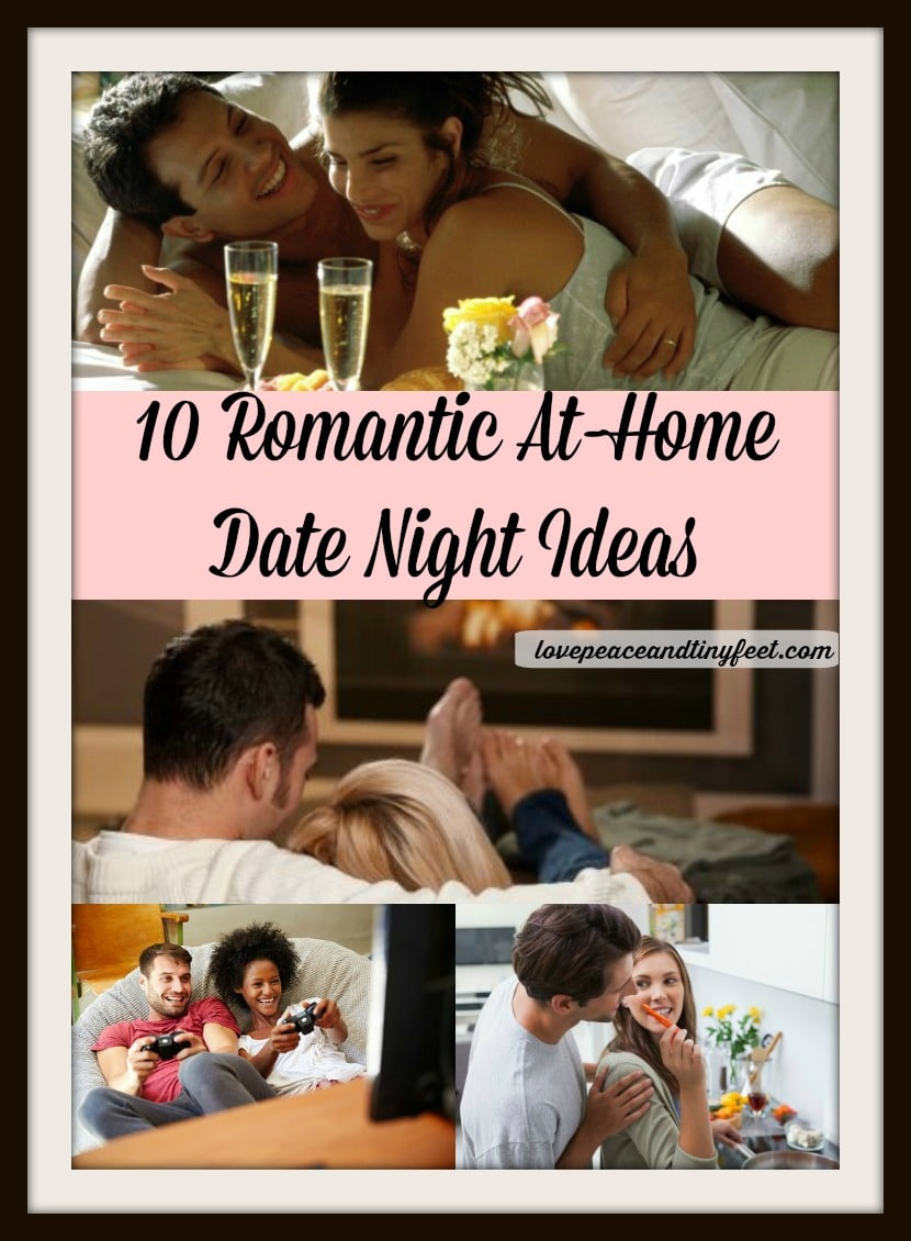 Find Romantic At-Home Date Night Ideas for couples. Creative date ideas that are perfect for an inexpensive date at home or a romantic evening with your spouse.