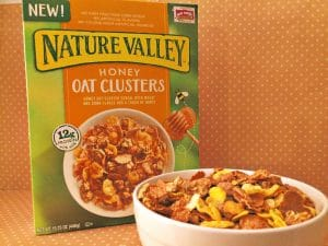 nature valley cereal and bowl