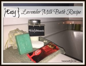 milk bath recipe with lavender essential oil