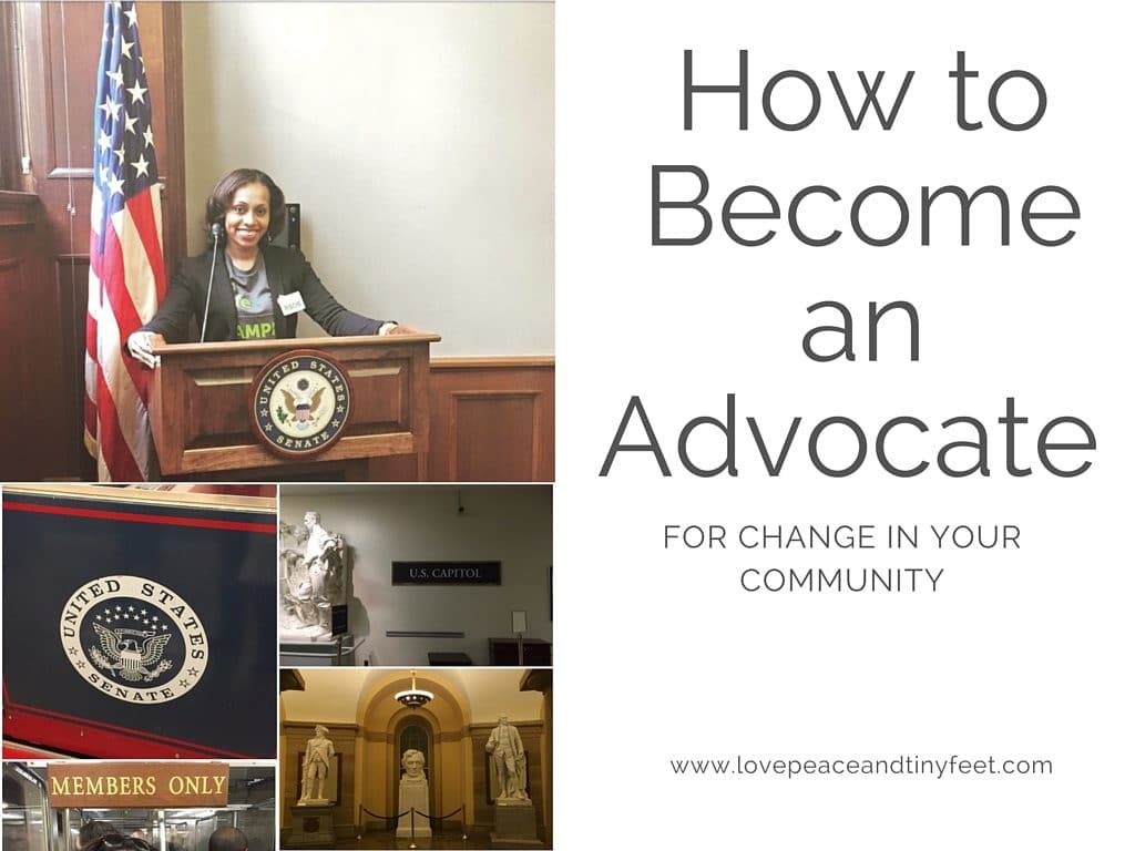 how to become an advocate for change