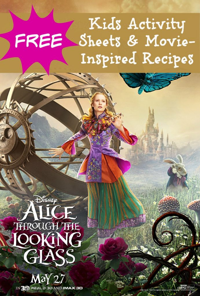Free Alice Through The Looking Glass Activity Sheets 2