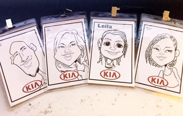 Kia Caricatures