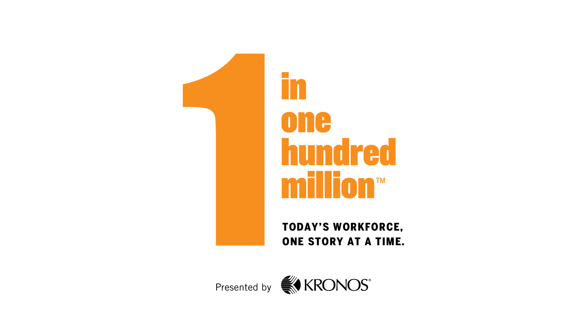 1 in 100 million - celebrating today's workforce