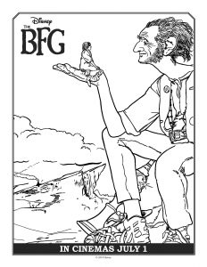 Printable Coloring sheet from Disney's The BFG