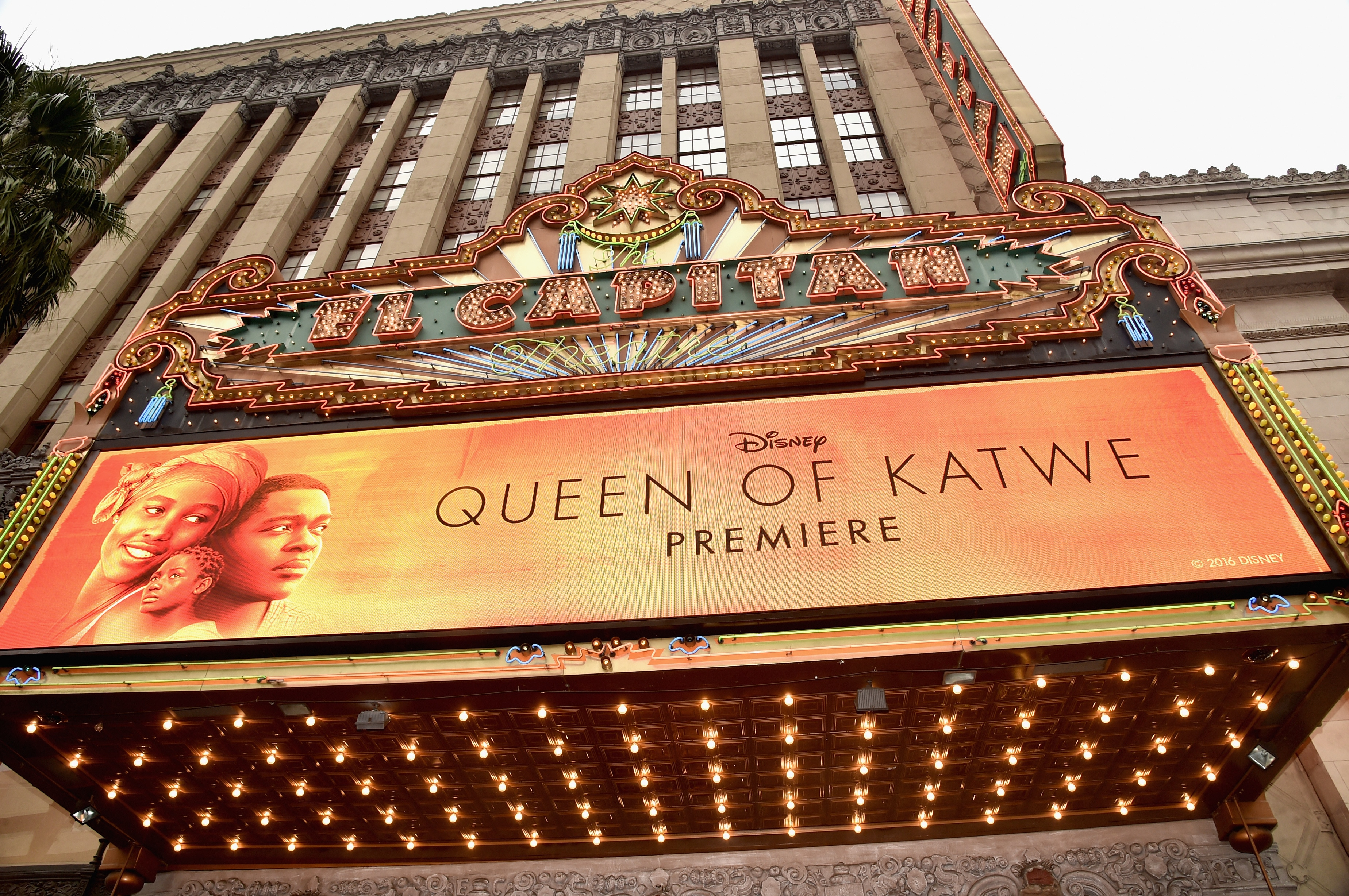 Premiere of Queen of Katwe at the El Capitan Theatre
