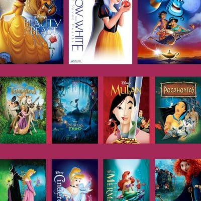 All Disney Princess Movies available for Sale