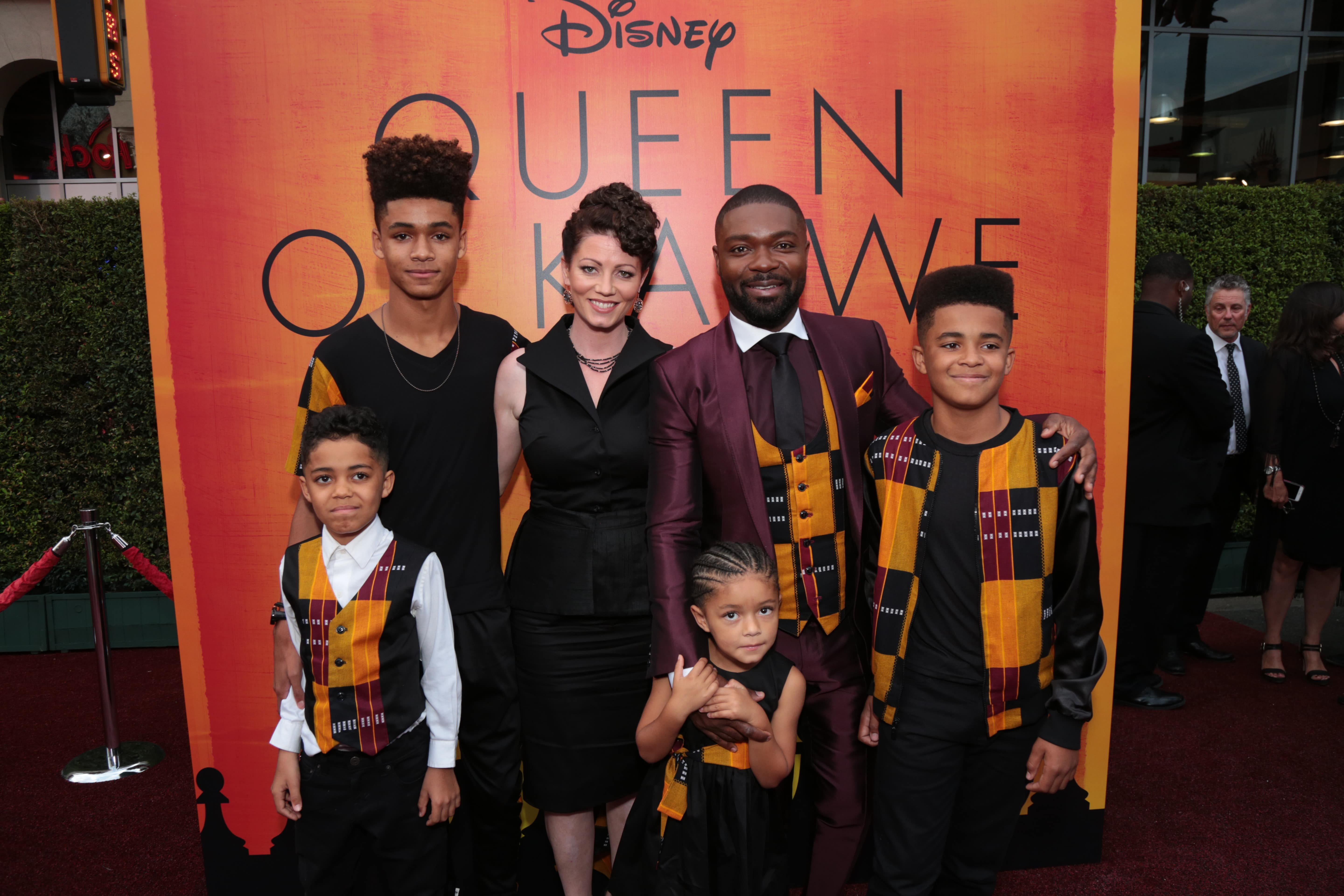 David Oyelowo and wife and children
