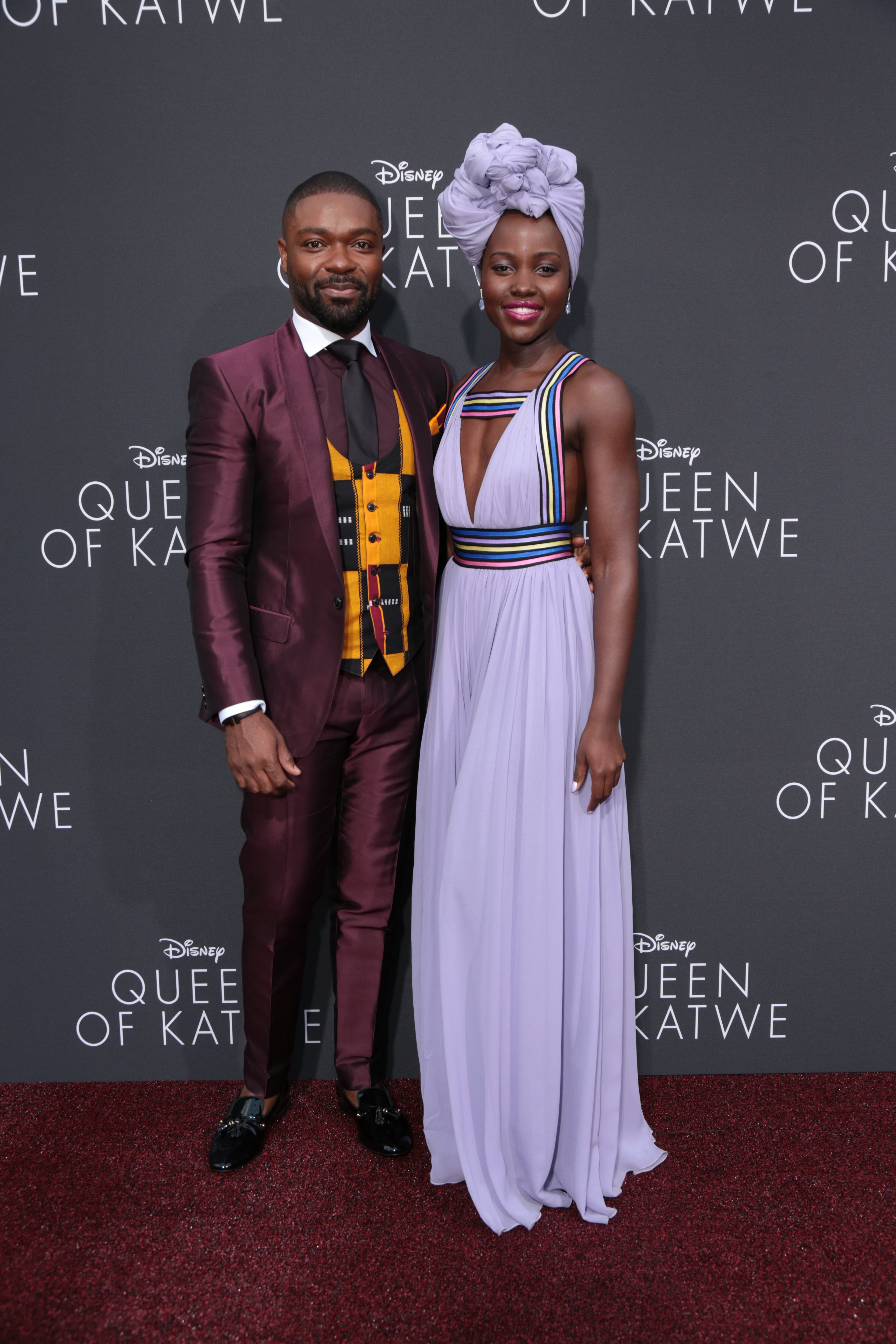 David Oyelowo & Lupita Nyong'o at the premiere of Queen of Katwe