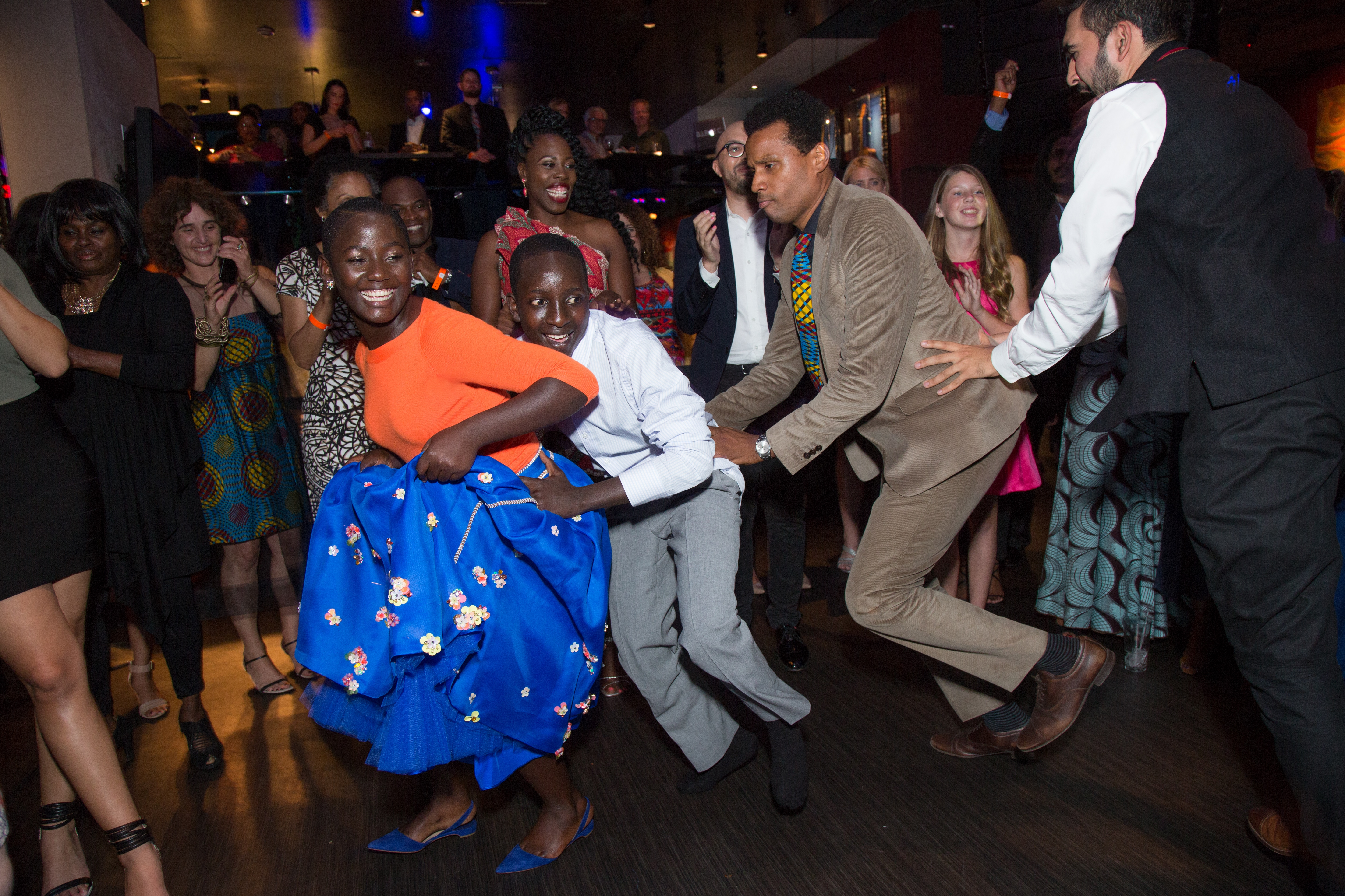 Madina Nalwanga, Robert Katende, Tendo Nagenda dance at Queen of Katwe after party