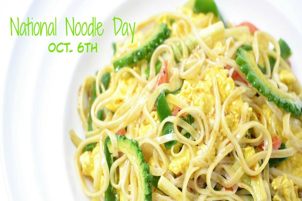 National Noodle Day is October 6th