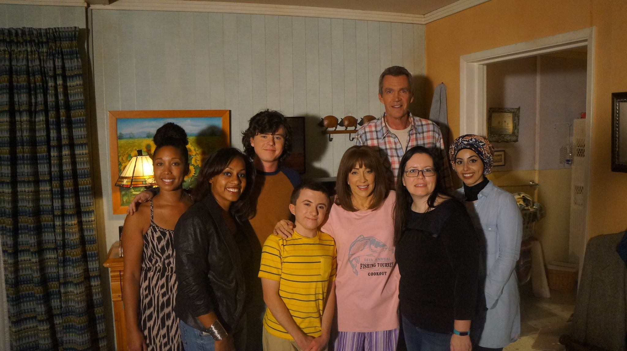 "Disney and ABC Bloggers with the Cast of The Middle ""The Hecks"" - Patricia Heaton, Neil Flynn, Charlie McDermott, Eden Sher, Atticus Shaffer)."