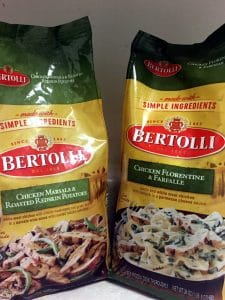 Bertolli Chicken Marsala and Bertolli Chicken Florentine