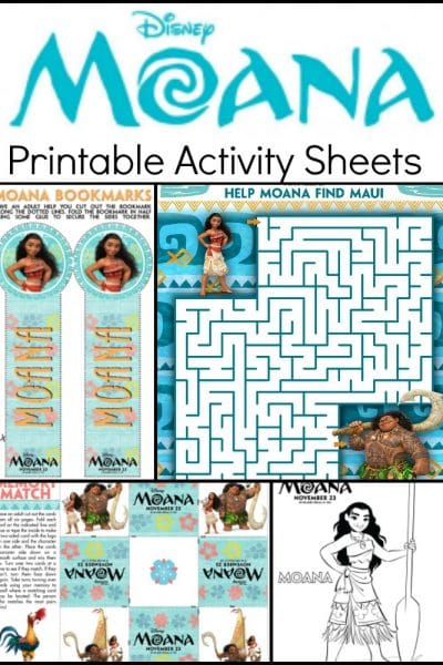 Moana Coloring Pages and  Kids Activity Sheets – Printable!