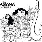 Moana Printable Coloring Pages