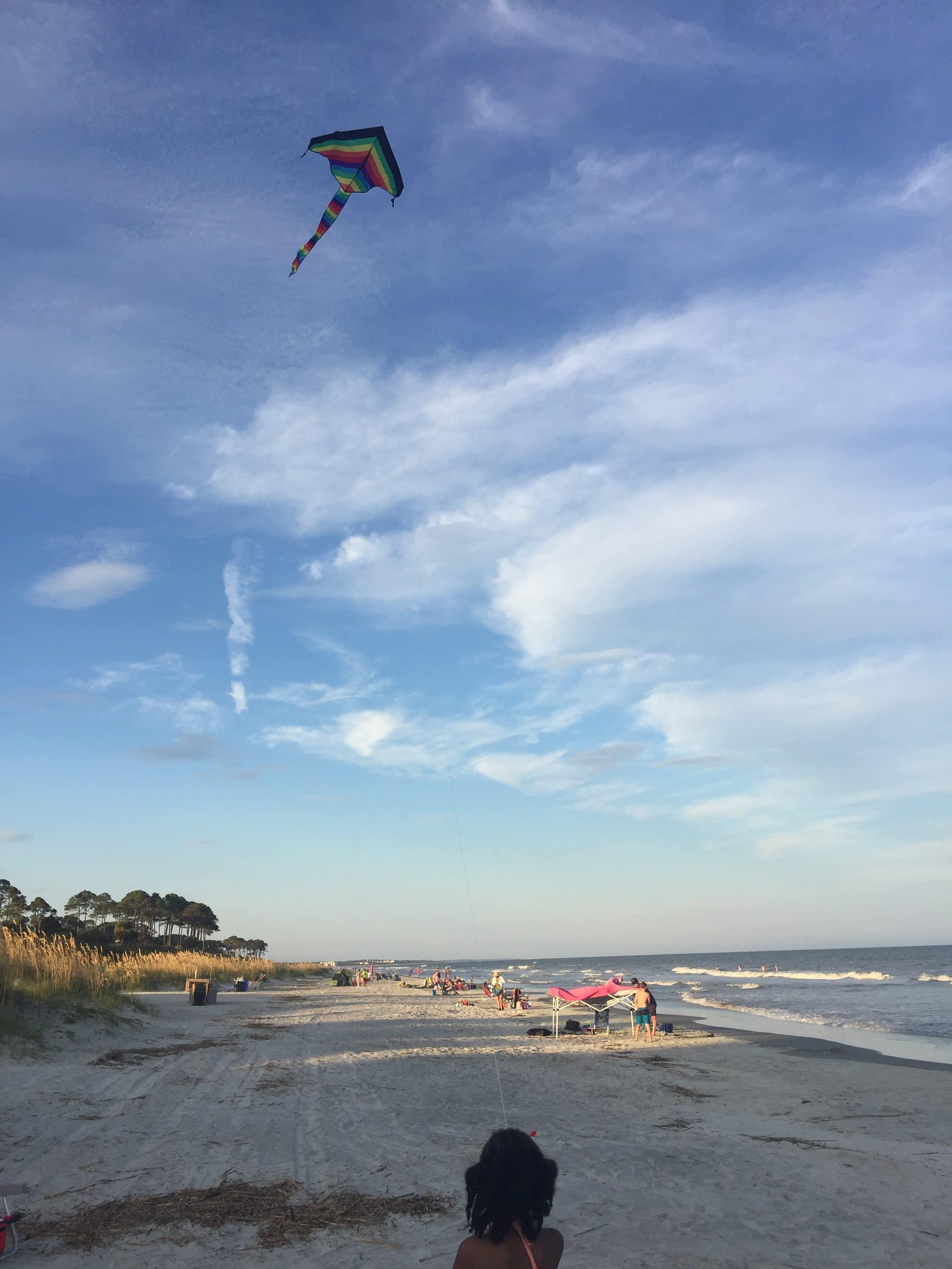 Kite Flying on the Beach in Hilton Head