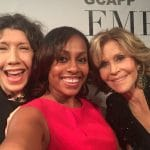Lily Tomlin, Jane Fonda and Atlanta Blogger Ari Adams at GCAPP Empower Party in Atlanta GA