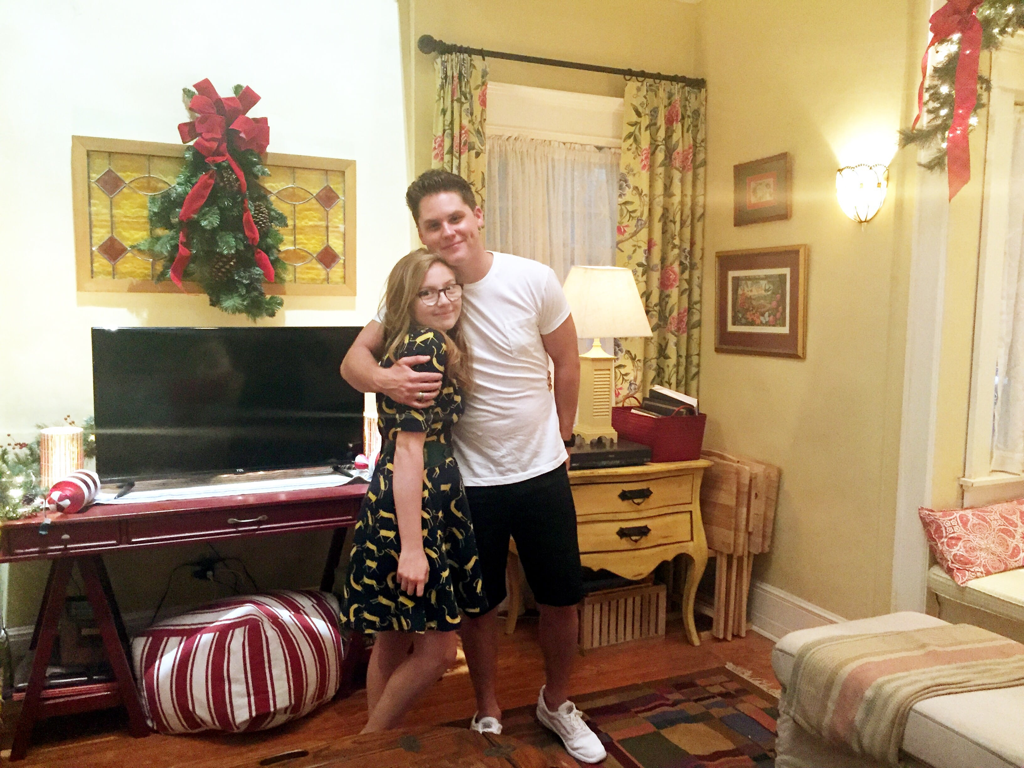 Matt Shively and Bebe Wood of The Real O'Neals