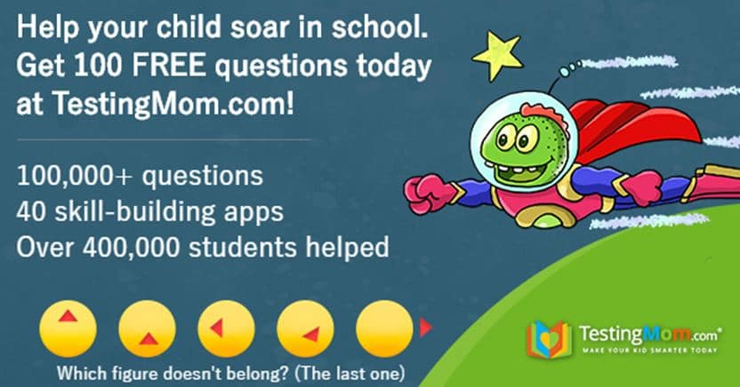 free test prep questions for kids