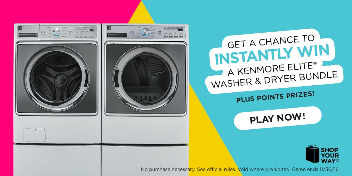Kenmore Elite Washer and Dryer giveaway