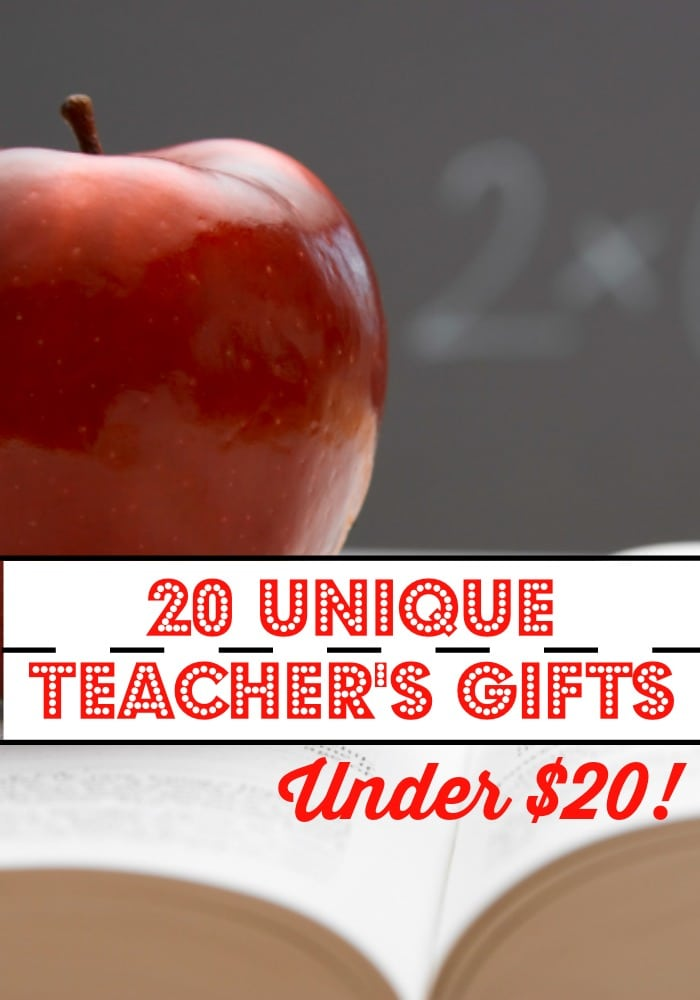 Looking for unique and inexpensive holiday gifts for teachers this year. Check out this list of 20 Teacher's gifts under 20.