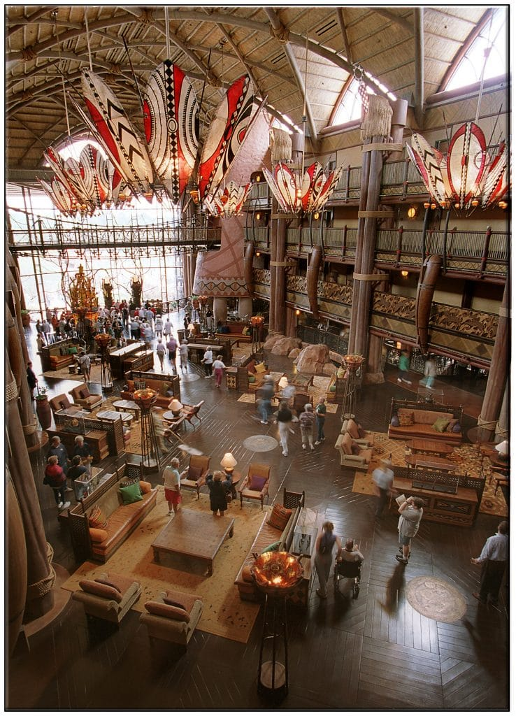 HANDCRAFTED BEAUTY Handcrafted furnishings, rich woods and vibrant colors showcase the art of African craftsmanship throughout Disney's Animal Kingdom Lodge. The 1,293-room resort is the newest deluxe resort at Walt Disney World in Lake Buena Vista, Fla. The 74-acre resort also features a 33-acre savannah with 24-viewing opportunities of more than 200 mammals and birds. (Permission is hereby granted to intended addressee magazine and newspaper to reproduce this picture for addresseeÕs editorial news use only. Copyright 2001. THE WALT DISNEY COMPANY.) 477-56-19