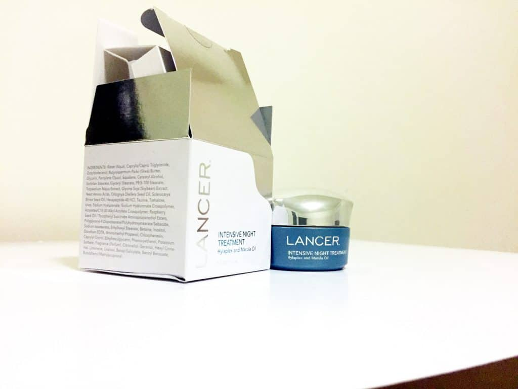 Lancer facial cream treatment