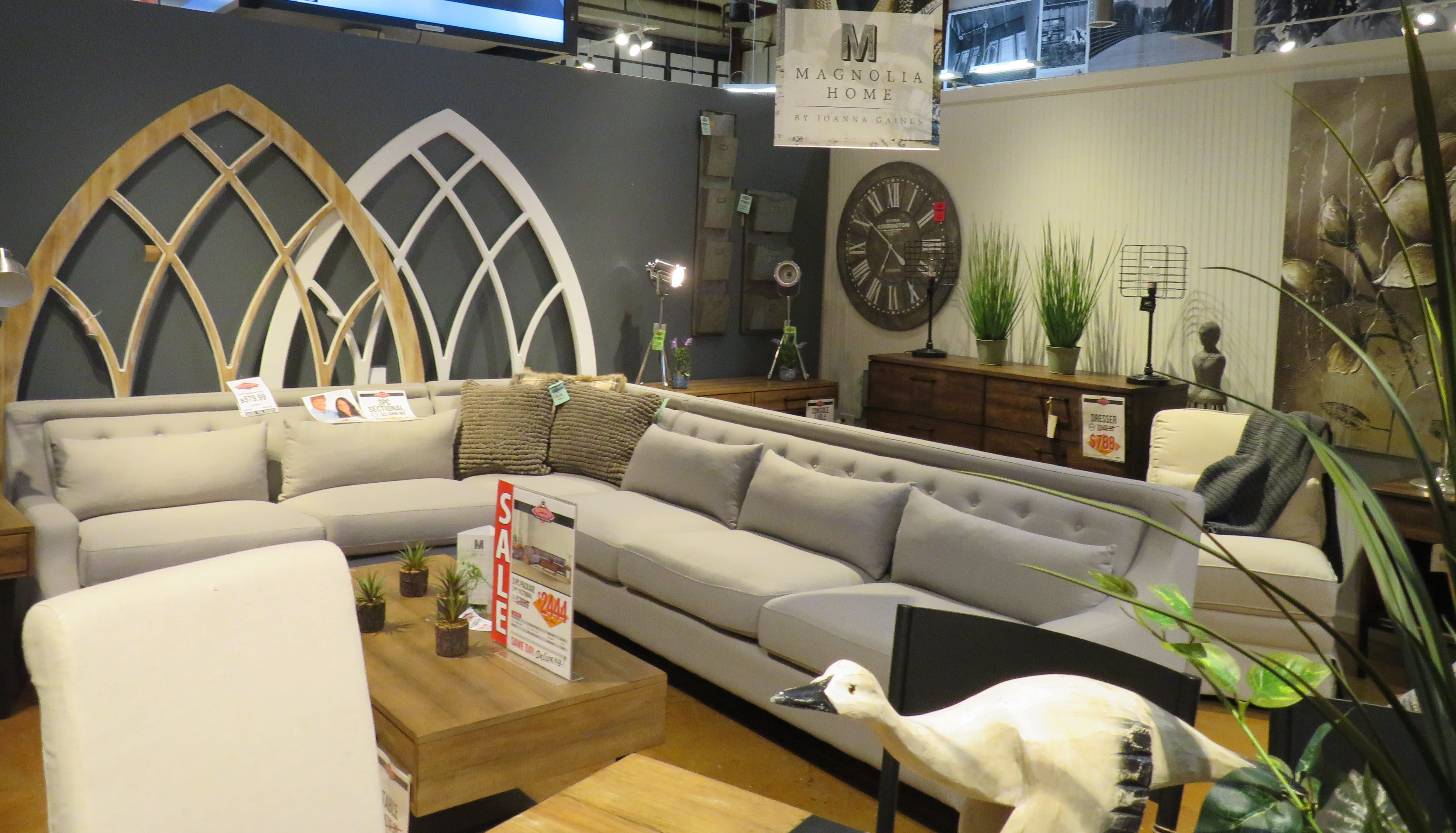 Magnolia home collection at Underpriced Furniture
