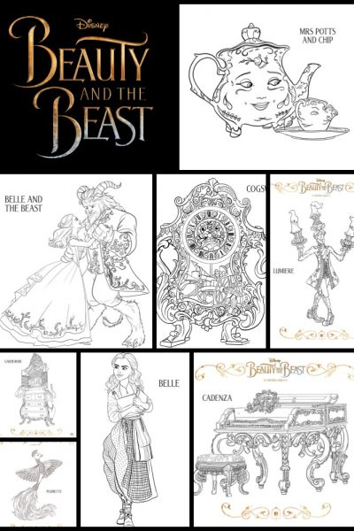 Beauty and the Beast Coloring Pages – Printable!