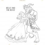 Belle and Beast Coloring Sheet