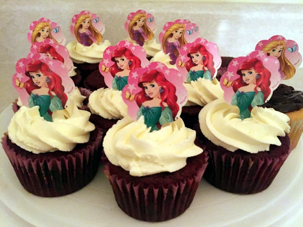 Red velvet cupcakes for kids slumber party idea