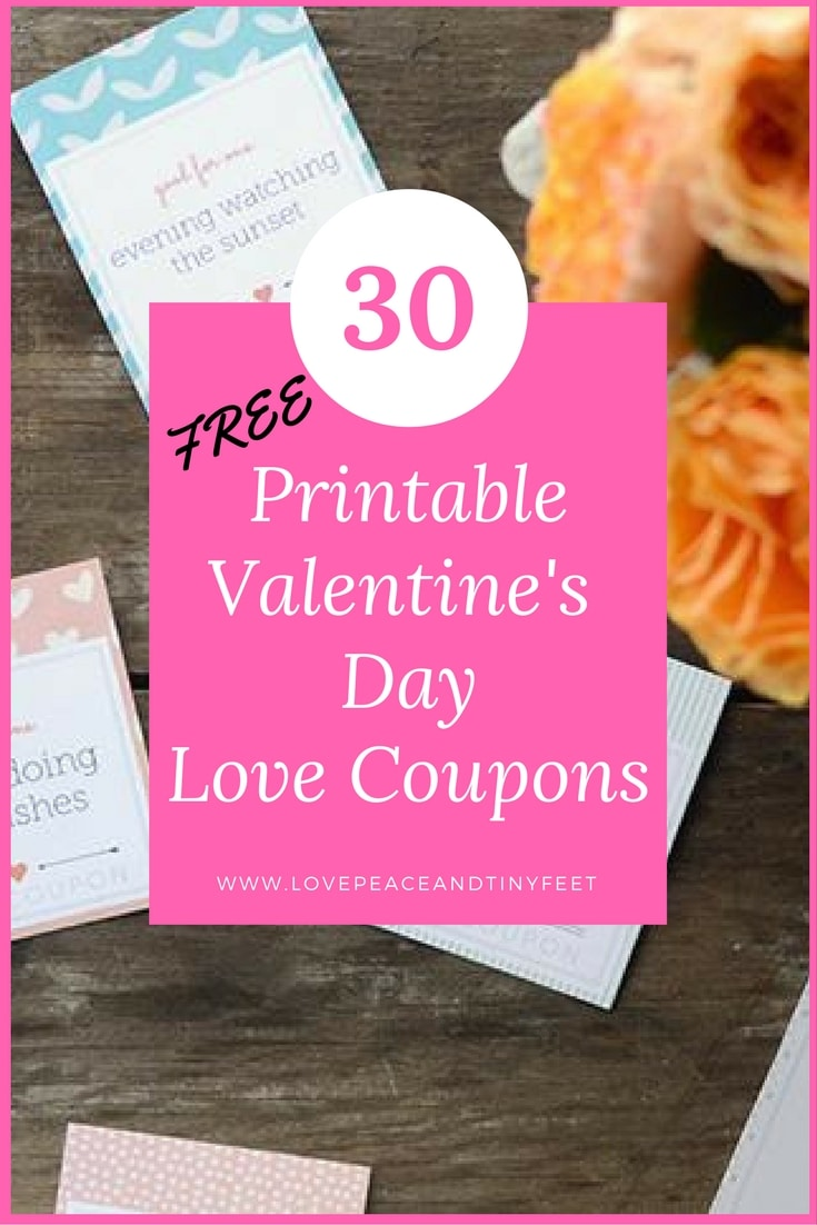 How about these easy printable love coupons to show your sweetheart just how much they mean to you. Free coupon book for Valentine's Day, anniversary, birthdays,