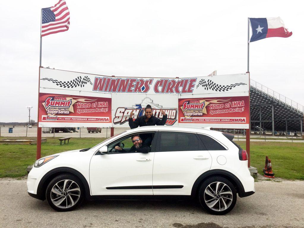 Mike Torpey and Ari Adams at San Antonio Raceway