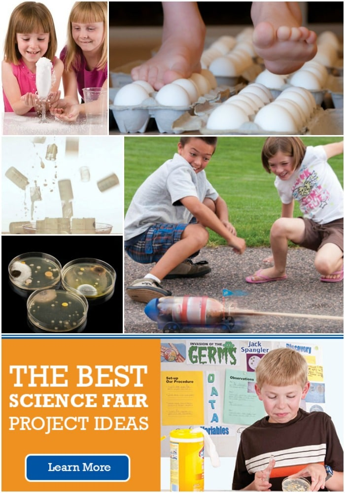 10 cool and easy science fair projects for kids in elementary school and middle school. Plus you;ll find a ton of science experiments, project kits and science fair project supplies that are both really educational and really fun for the kids.