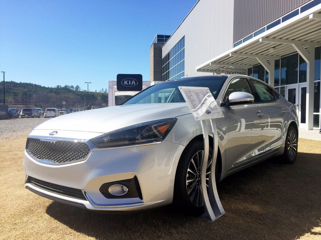 Kia Optima at ride and drive