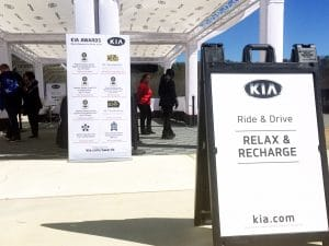 Kia ride and drive charging station