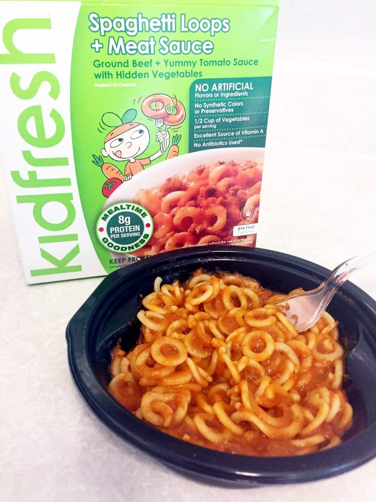 Kidfresh meals spaghetti loops
