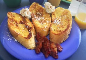 french toast breakfast at bed and breakfast