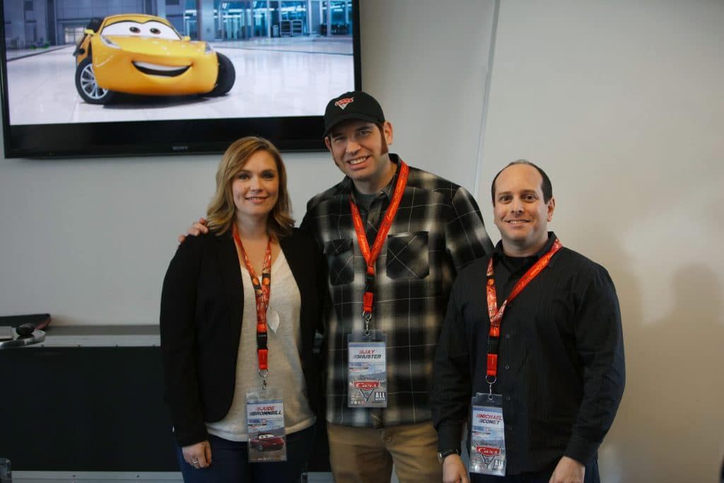 "The ""Cars 3"" Long Lead Press Days, held at Sonoma Raceway, including presentations by Directing Animator Jude Brownbill, Production Designer Jay Shuster and Characters Supervisor Michael Comet, held on March 28, 2017 in Sonoma, Calif. (Photo by Deborah Coleman / Pixar)"
