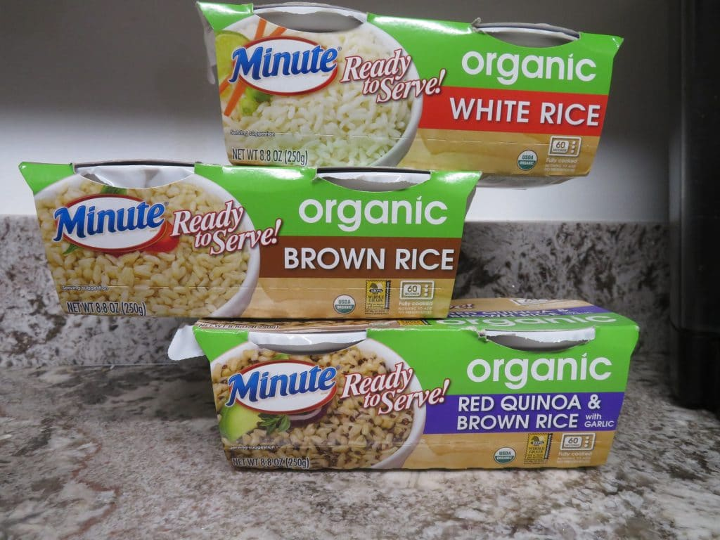 Minute rice ready to serve organics