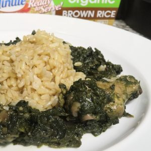 Liberian Potato greens or any west african recipe can be made with brown rice instead