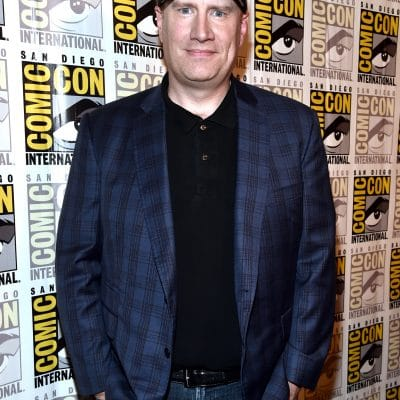 SAN DIEGO, CA - JULY 22: President of Marvel Studios and Producer Kevin Feige at the San Diego Comic-Con International 2017 Marvel Studios Panel in Hall H on July 22, 2017 in San Diego, California. (Photo by Alberto E. Rodriguez/Getty Images for Disney) *** Local Caption *** Kevin Feige