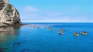 Cave Kayaking in the Channel Islands near Santa Barbara